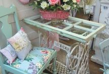 Shabby chic garden and home