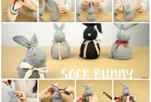 coniglietti con calzini