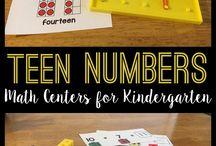 Teen Numbers Manipulatives
