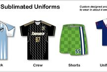 Sublimated Scccer Uniforms / We offers sublimated Soccer Jersey, sublimated Soccer shorts and sublimated Soccer V- Necked T-shirts made with medium weight birdseye polyester mesh and smooth mesh fabric are offered at affordable prices.