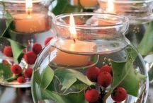 декорациях свечи