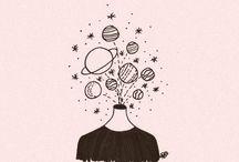 Rysunki tumblr - kosmos