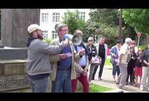 Manifestation pour la statue de Jean-Paul II à Ploërmel / Photos de la manifestation pour sauver la statue de Jean-Paul II à Ploërmel, samedi 16 mai 2015