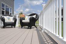 Deck and Dock Railing / Inspiration for railing from Trex, Azek, Fiberon, Atlantis, Fairway and more!