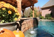 Custom Water Features for Pool / Adding a custom water feature adds dimension and elegance to your backyard swimming pool.