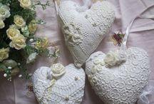 Сердечки / Текстильные сердечки,сердечки-подвески,сердечки-саше