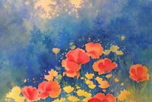 kukat ja keltainen taivas