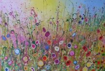 Printed hand finished canvases by Yvonne Coomber / These very special edition canvases are available to buy on our on-line shop. These sparkling, magical pieces are hand finished by Yvonne Coomber with a selection of inks, gold leaf, oils, glitters, glosses and are infused with a lot of love!