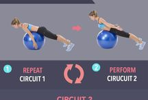 Pilates exercise ball exercises