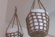 Crochet macetas