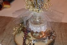 Rustic centerpieces / Rustic wedding / by Jamie Mullet