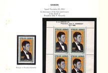 GABON & GUATEMALA Stamps JFK / John F. Kennedy stamps collection of Gabon & Guatemala.