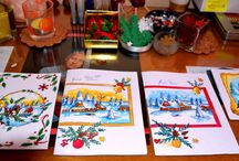 Xmas Cards Handmade / drawn X mas cards for my friends and family ♥