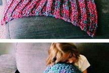 Mermaid Blanket / Super Soft Hand Crocheted Mermaid Tail Blanket Sofa Blanket.