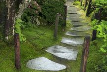 Garden Paths / A board of pretty garden paths.