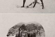 Dyr med landskab