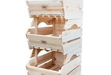 Wooden Vegetables Storage Rack 3 Tier Pantry Multi Purpose Box Containers Units