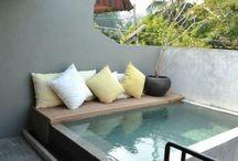 Tiny pool & Outdoors