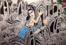 irezumi japanese traditional tattoo / for more facebook: snowblood tattoo ig: balboairezumi  / by Marianna Balboa