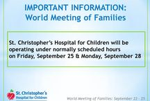 World Meeting of Families 2015 / Updates about World Meeting of Families 2015 from St. Christopher's Hospital for Children. www.stchristophershospital.com