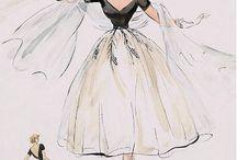 1950 fashion sketch