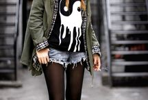 Outfit Inspiration / Soft Grunge, Punk, Rock, Vintage