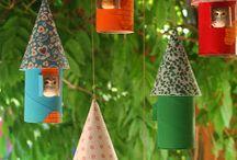 Loo roll bird houses / Loo rolls