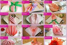 Decoration / Creative ideas how to decorate wedding parties, holidays etc. Napkin folding and napkin ring ideas with youtube tutorials.
