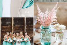 Mint-pink wedding