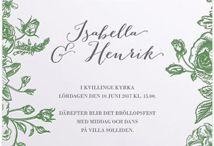 Wedding Stationary by Calligraphen / Inbjudningskort, save-the-date, osa-kort, festprogram, vigselprogram och andra trycksaker från Calligraphen.  #Invitasjoner #Inbjudningar #Inbydelser #Bröllop #Bryllup #Calligraphen #savethedate #osakort #RSVP