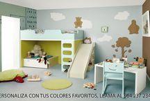 Barneromsmøbler. / Insprirasjon til barnerommet, barnesenger, barnelamper kommoder, barnemøbler
