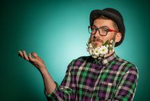 Barbes fleuries / Flower beards are awesome ! #fleurs #hommes #beard #barbes