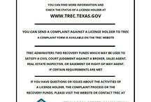 Office Documents / Texas law requires all license holders to provide the following information and forms to all prospective clients. #Waco #RealEstate #CJRealtors
