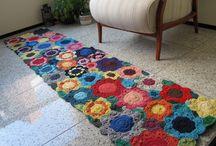 ccrochet floral floor rugs