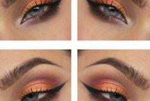 Tutorial maquillaje ojos amarillos naranjas