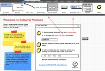 Wireframe Tools / Screenshots of software tools for designing wireframes and prototypes.