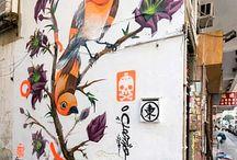 Роспись стен/Painting on a wall