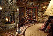 rustic skii cabin