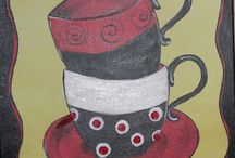Acrylic painting coffee and tea / Everything coffee and tea.