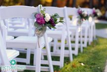 Chairs and pews decor
