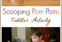 toddler learning activities / Keeping a toddler busy with learning activities. Aimed to provide independent activities for a toddler