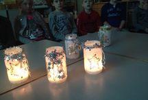 Kerstversiering in de klas / Kerstverlichting