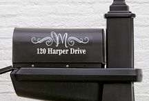 Mailbox Decals / Spice up your mailbox with your personalized info!