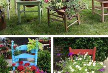 Decoraciones rusticas para patios y jardines