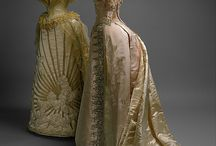 House of Worth / Couturier gowns by Charles Frederick Worth (French, 1858 - 1956) referencing historical fashion