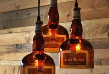 buislamp met flessen
