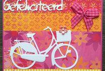 kaart maken:vrolijk/fleurig/lief