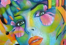 femme / peinture