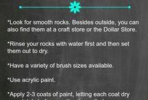 Painting rocks preparations