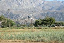 Wind park of Gods • Crete Greece / It is located in Lassithi Plateau Crete (island) - Greece